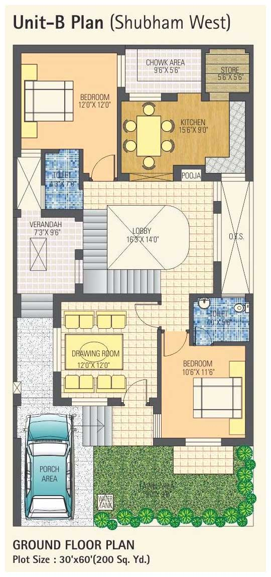 Villa Floor Plans In India