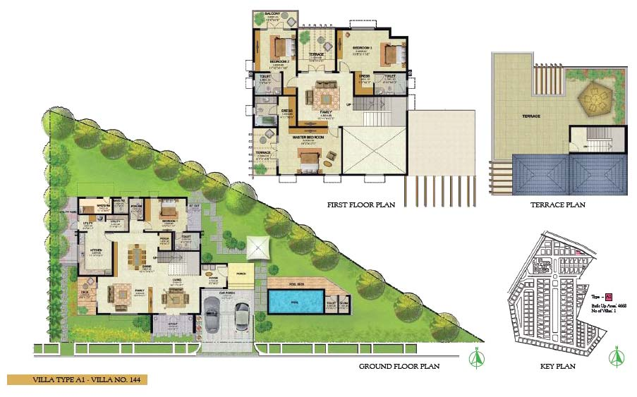 Villa a prestige royal woods an residential project at Villa floor plans india