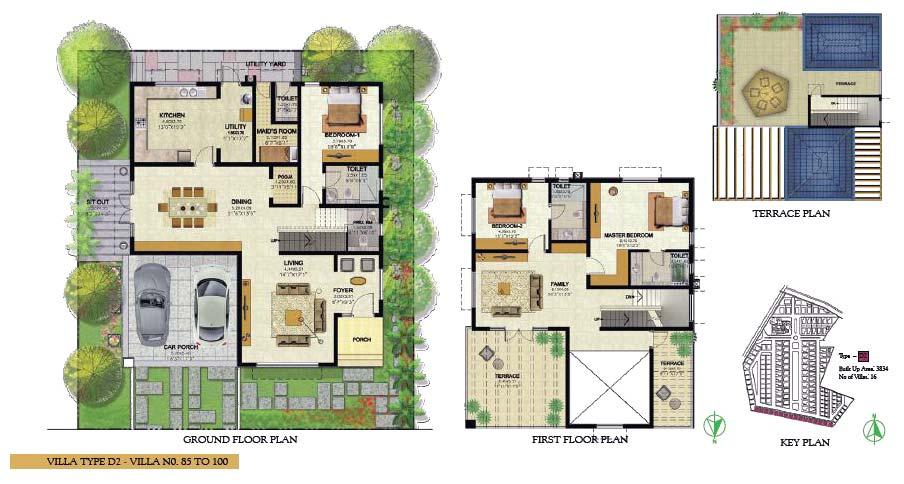 Villa d prestige royal woods an residential project at for Villa interior design in hyderabad