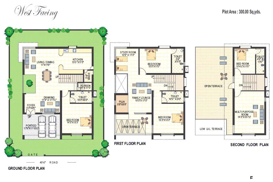 Floor plans richmond villas an residential project at for 120 square yards floor plan