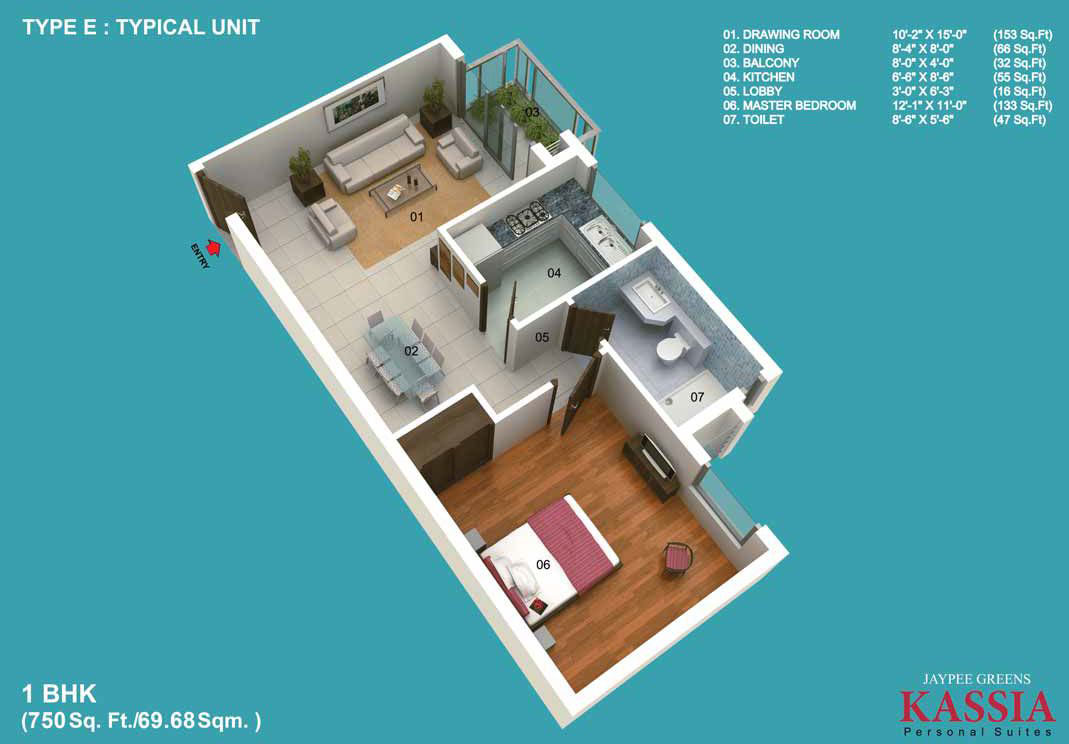 Simple interior design for 1bhk flat for 1 bhk interior designs