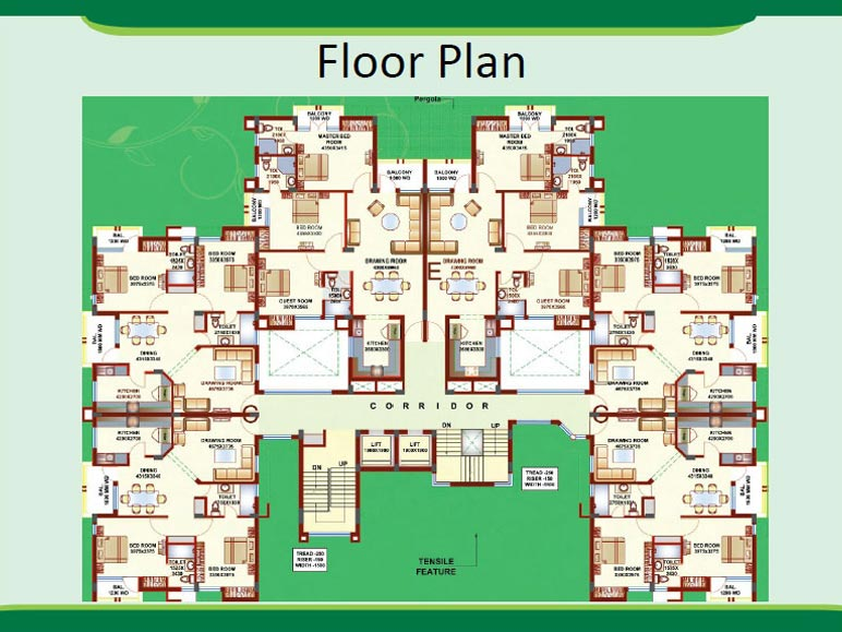 Floor Plans Green Park An Residential Project At Lucknow