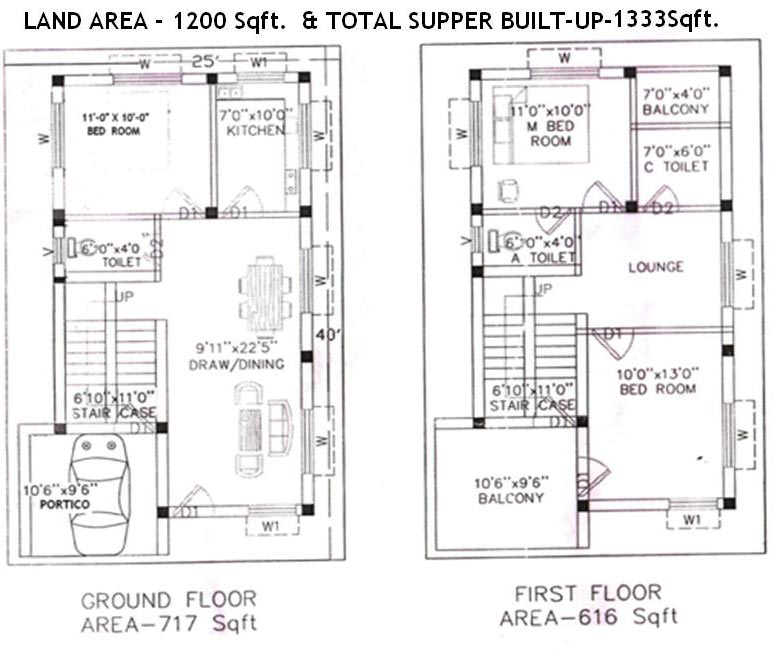 House Plans 800 Sq Ft India