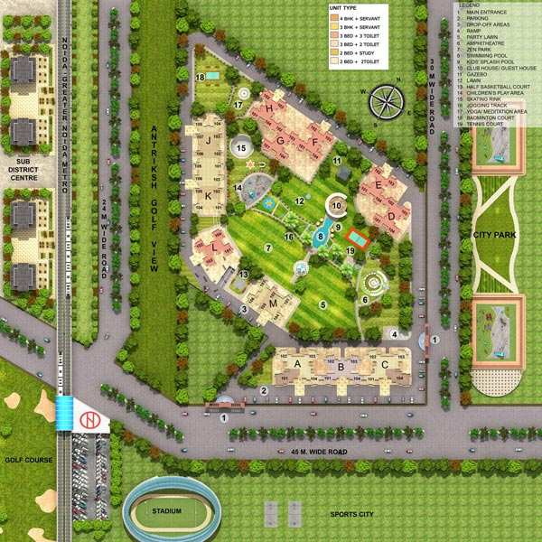 3 BHK Flats & Apartments for Sale in Sector 78, Noida