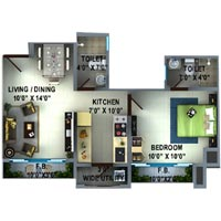1 BHK Flats & Apartments for Sell in Thane