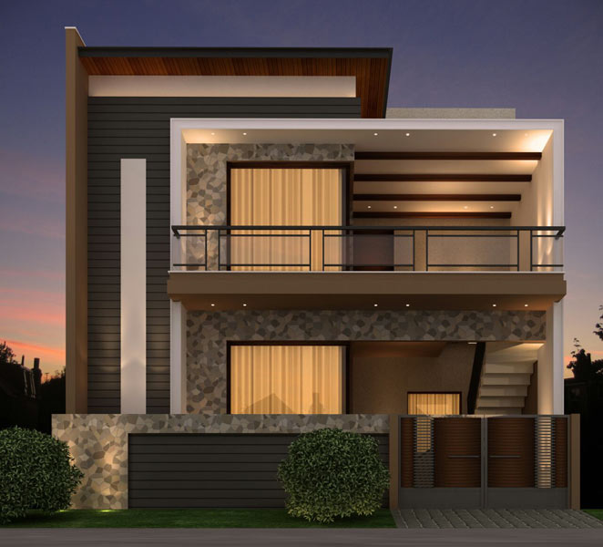 Front Elevation House Chandigarh : New house design in punjab home and style