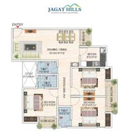 1355 Sq. Feet Builder Floor for Sale in Jagatpura, Jaipur