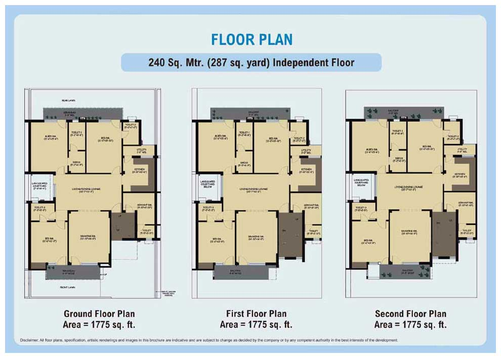 Enchanting 300 Sq Yards House Plans India Contemporary Plan 3D
