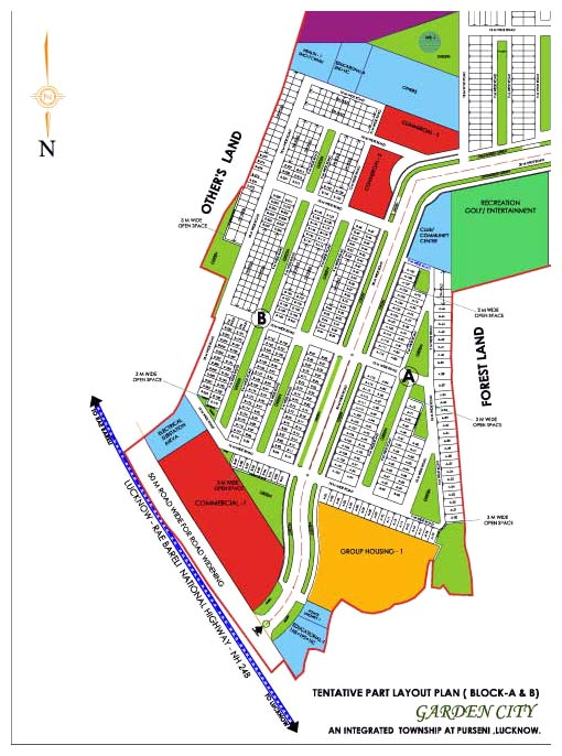 Layout Plan Dlf Garden City Lucknow An Residential Project At Lucknow