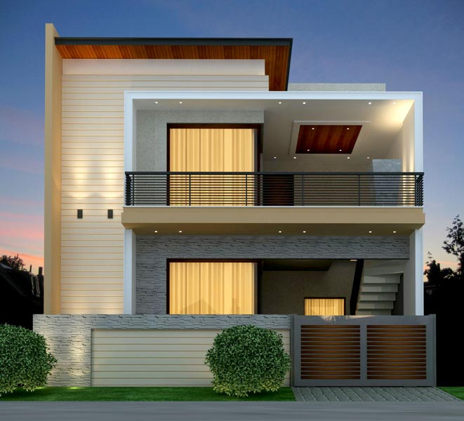 Project gallery for Indian home outer design