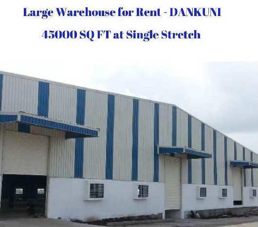 45000 Sq Ft Warehouse  for RENT at Dankuni