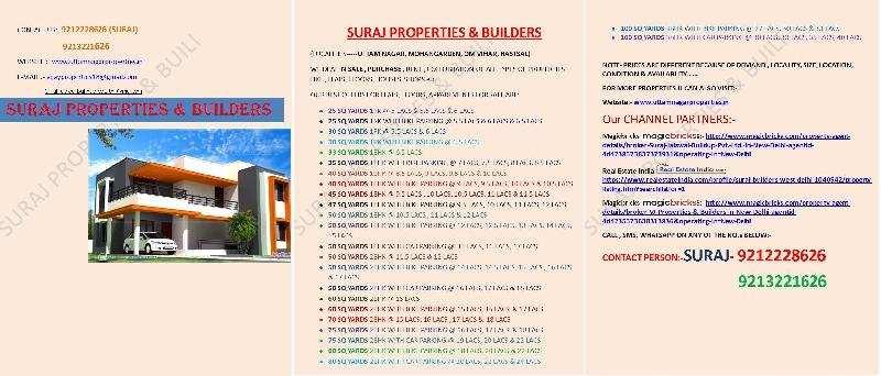 Residential Plot for Sale in Uttam Nagar, West Delhi