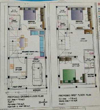 3 BHK Duplex House for sale in Satna