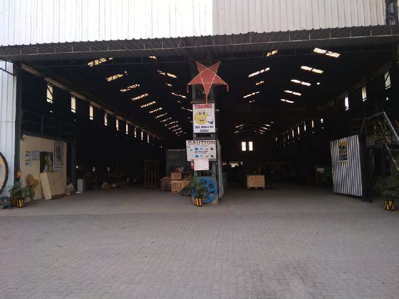5900 square meters Industrial Plot  for Rent with 30000 square feet shed and 2no.  Of 35 MT crane.