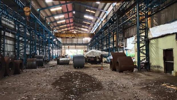 1800 Square  Meter  Industrial plot with  shed  and  crane    for sell  in  Taloja  MIDC, Navi Mumbai.