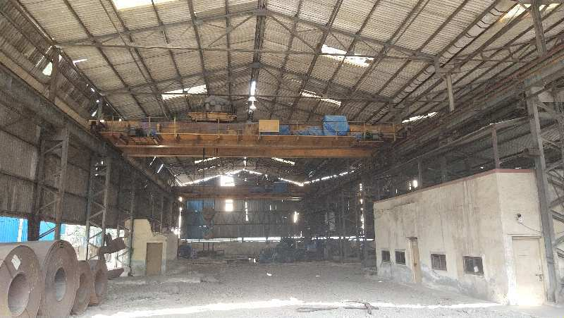 INDUSTRIAL PLOT FOR SALE IN TALOJA MIDC AREA NAVI MUMBAI WITH CRANES AND MACHINES
