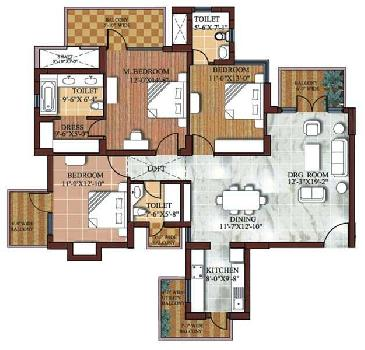 3bhk flat for sale in SPR Imperial estate