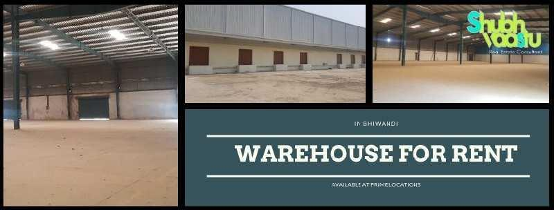 Warehouse for rent in bhiwandi 100000 sq feet to 300000 sq feet