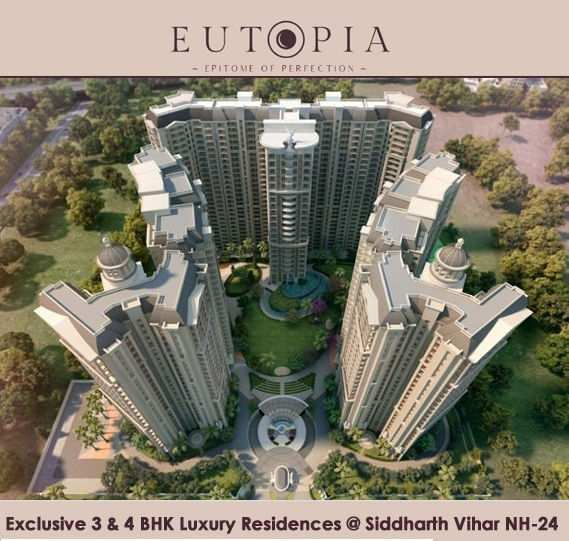 4 BHK Flats & Apartments for Sale in Siddharth  Vihar, Ghaziabad
