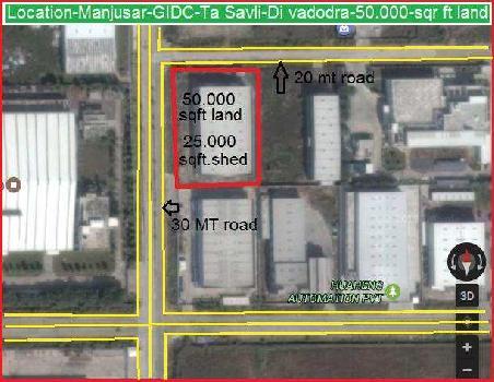 Industrial Land for Sale in Manjusar, Vadodara