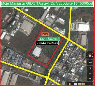 Industrial Land for Sale in Manjusar, Vadodara