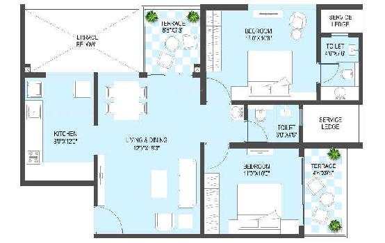 2 BHK Flats & Apartments for Sale in Tathewade, Pune