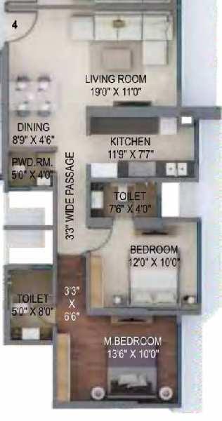 2 BHK Flats & Apartments for Sale in Kanjurmarg, Mumbai