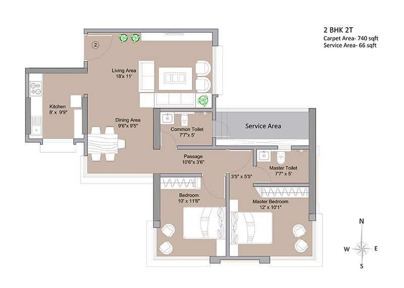 2 BHK Flats & Apartments for Sale in Dadar West, Mumbai