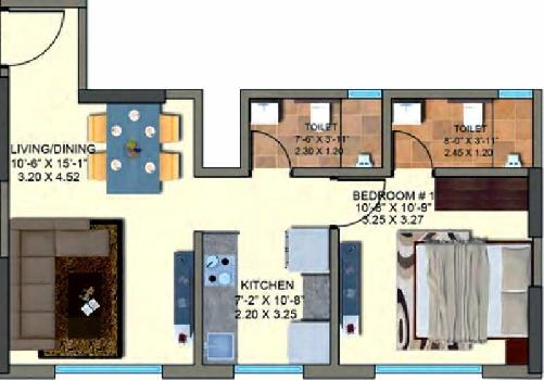 1 BHK Flats & Apartments for Sale in Kanjurmarg East, Mumbai