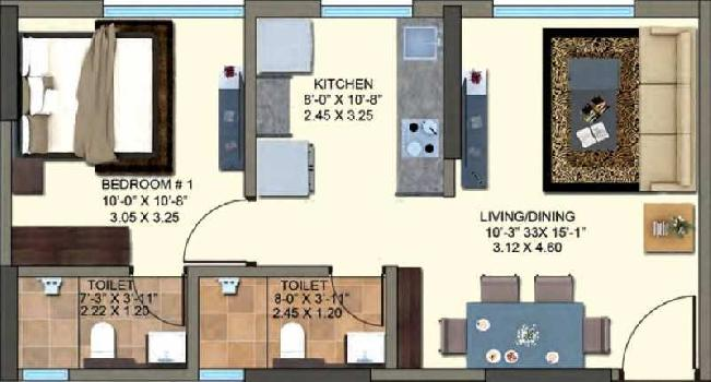 2 BHK Flats & Apartments for Sale in Kanjurmarg East, Mumbai