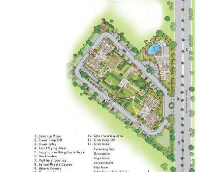 3 bhk 1650 sqft flat for sale in SUSHMA GRANDE NXT, CHD-AMB HIGHWAY,ZIRAKPUR