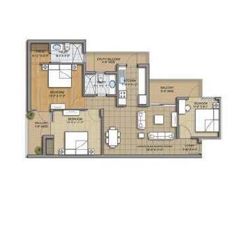 3 bhk 1475 sq.ft. flat for sale in SUSHMA GRANDE NXT, CHD-AMB HIGHWAY,ZIRAKPUR