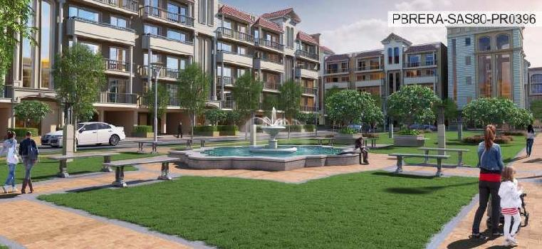 3 bhk 1800 sq.ft. flat for sale in SUSHMA VALENCIA, CHD-AMB HIGHWAY,ZIRAKPUR