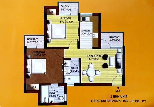2 BHK Flats & Apartments for Sale in Raisen Road, Bhopal