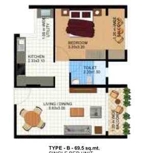 Spacious 1 bhk flat for sale at dabolim vasco da Gama south goa.