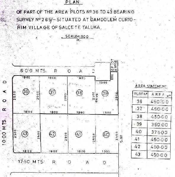 Plot for sale for construction purpose in curtorim salcete south goa