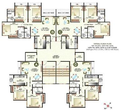 2 Bhk Spacious Semi Furnished Flat for Sale At Cosmos Spring with Modular Kitche