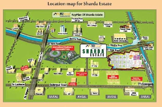 Residential Plot For Sale In Sharda Estate, Sec-7, Gomti Nagar Extension, Lucknow