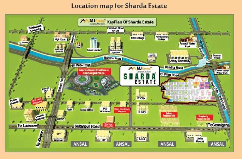 Residential Plot For Sale In Sharda Estate, Sec-7, Gomti Nagar Extension, Lucknow