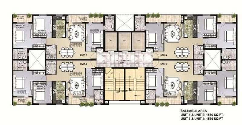 3 BHK Flats & Apartments for Sale in Mullanpur, Chandigarh