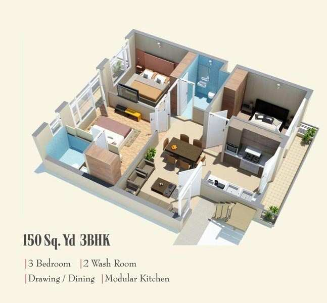 3 BHK Flats & Apartments for Sale in Sas Nagar, Mohali
