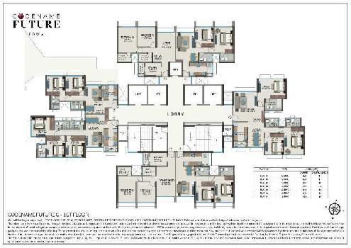 2 BHK with Deck Flat For Sale In Tower C, Powai, Mumbai