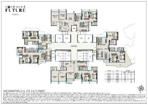 3 BHK with Deck Flat For Sale In Tower C, Powai, Mumbai