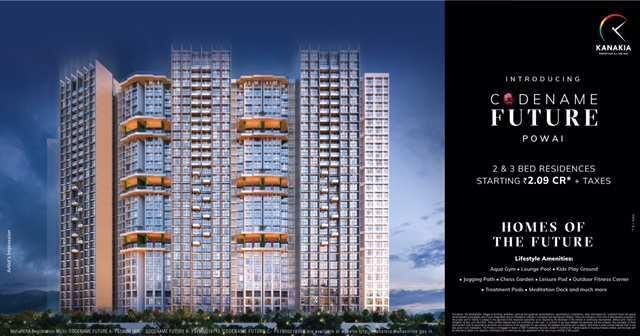 3 BHK Large with Deck Flat For Sale In Tower C, Powai, Mumbai