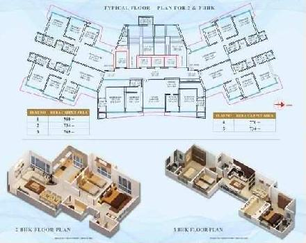 3 BHK Flats & Apartments for Sale in Malad West, Mumbai