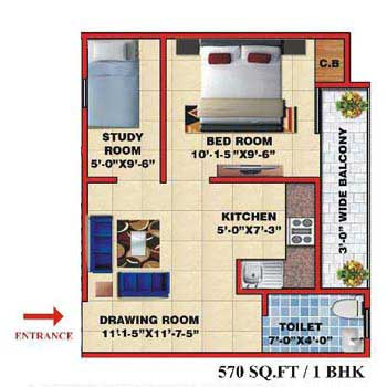 1 BHK Flats & Apartments for Sale in Nh 91, Ghaziabad