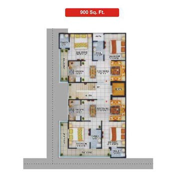 2 BHK Flats & Apartments for Sale in Nh 91, Ghaziabad