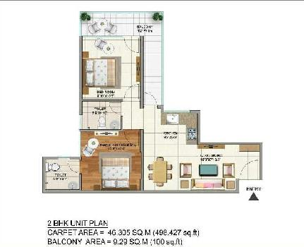 2 BHK Flats & Apartments for Sale in Sector 75, Faridabad