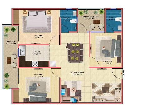 2 BHK Flat For Sale In Sultanpur Road, Lucknow