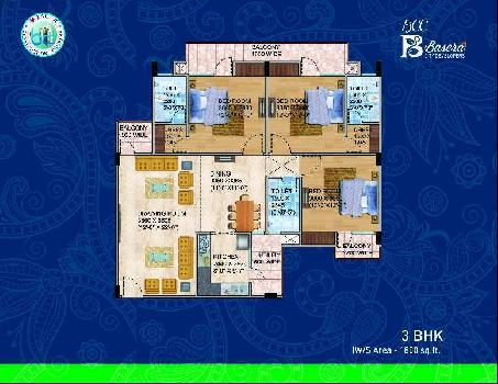 3 BHK Flat For Sale In Sec - 17 ,Vrindavan Yojana, Lucknow